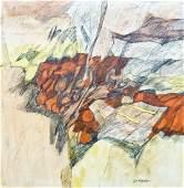 William Hixson b1922 Washington Untitled Abstract