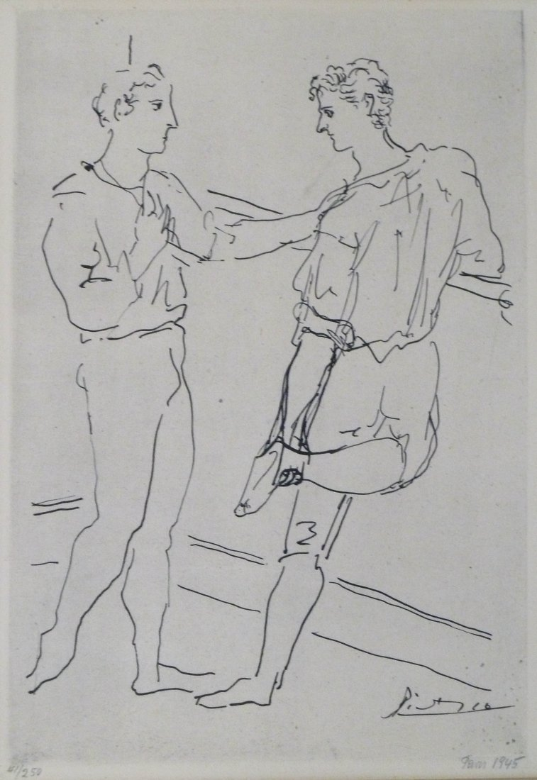 Pablo Picasso ''Ballet Serge Lifar'' Paris Opera Two