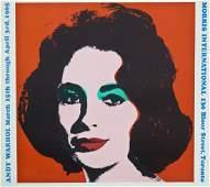 Vintage Andy Warhol Liz Taylor Offset Lithograph