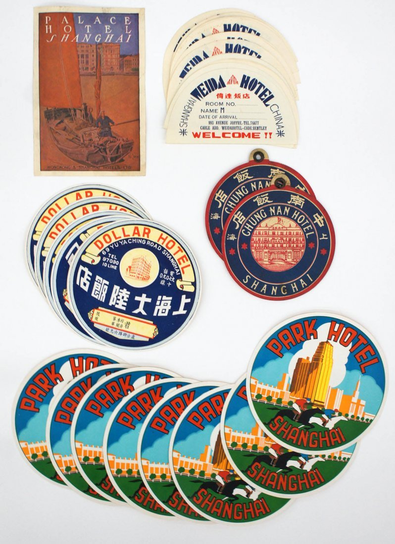 Group of (45) Vintage China Luggage Labels. Circa