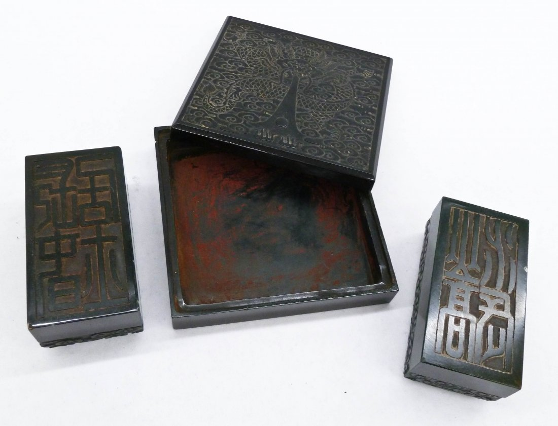 Chinese Carved Jade Imperial Six Seals of State Set in - 7