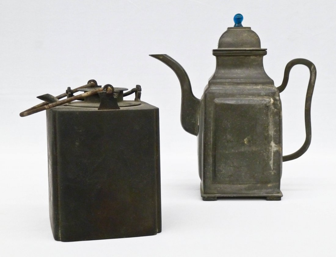 (2) Chinese Yixing Type Teapot & Teapot with Warmer.