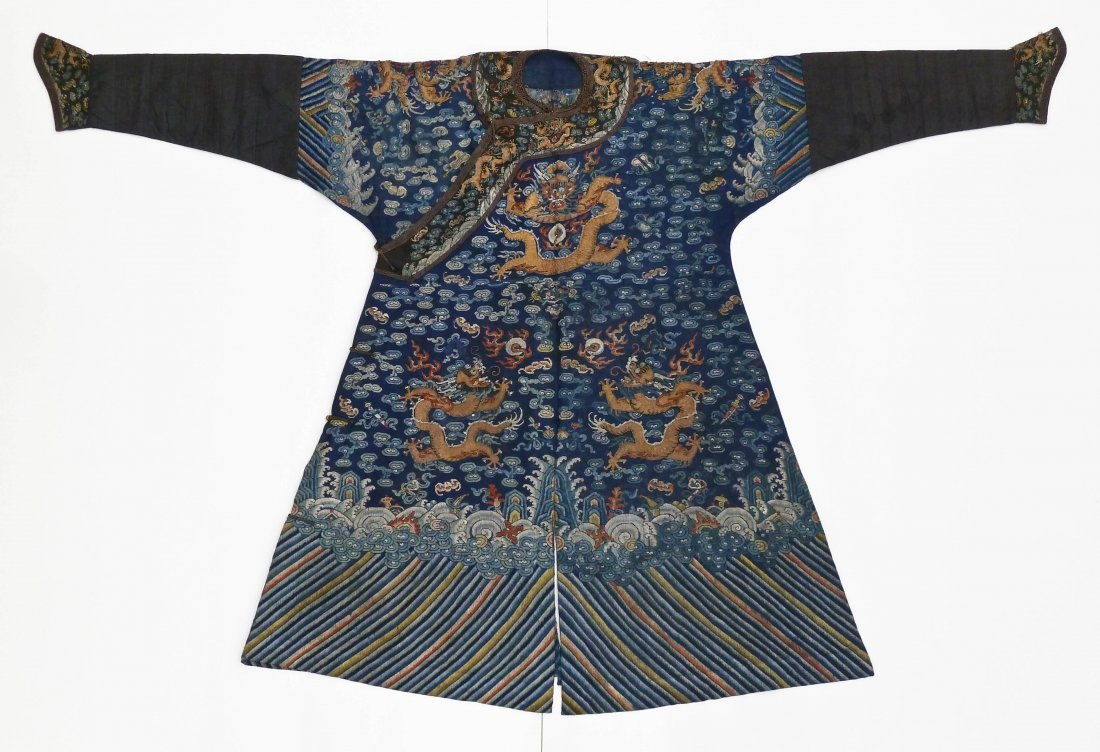 Antique Chinese Imperial Court Dragon Summer Robe