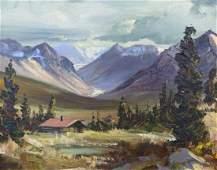Ellen Henne Goodale (1915-1991 Alaska) Untitled Cabin
