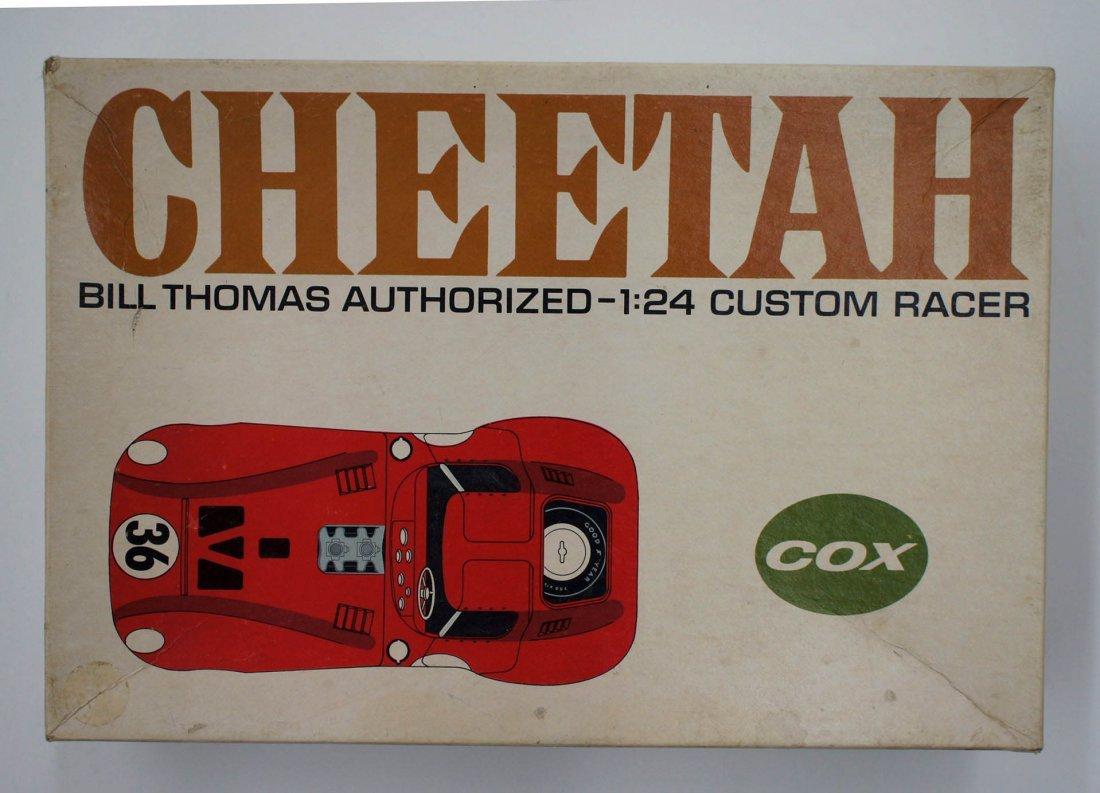 Cox Cheetah 1960's Slot Car Model Kit 1/24 Scale.