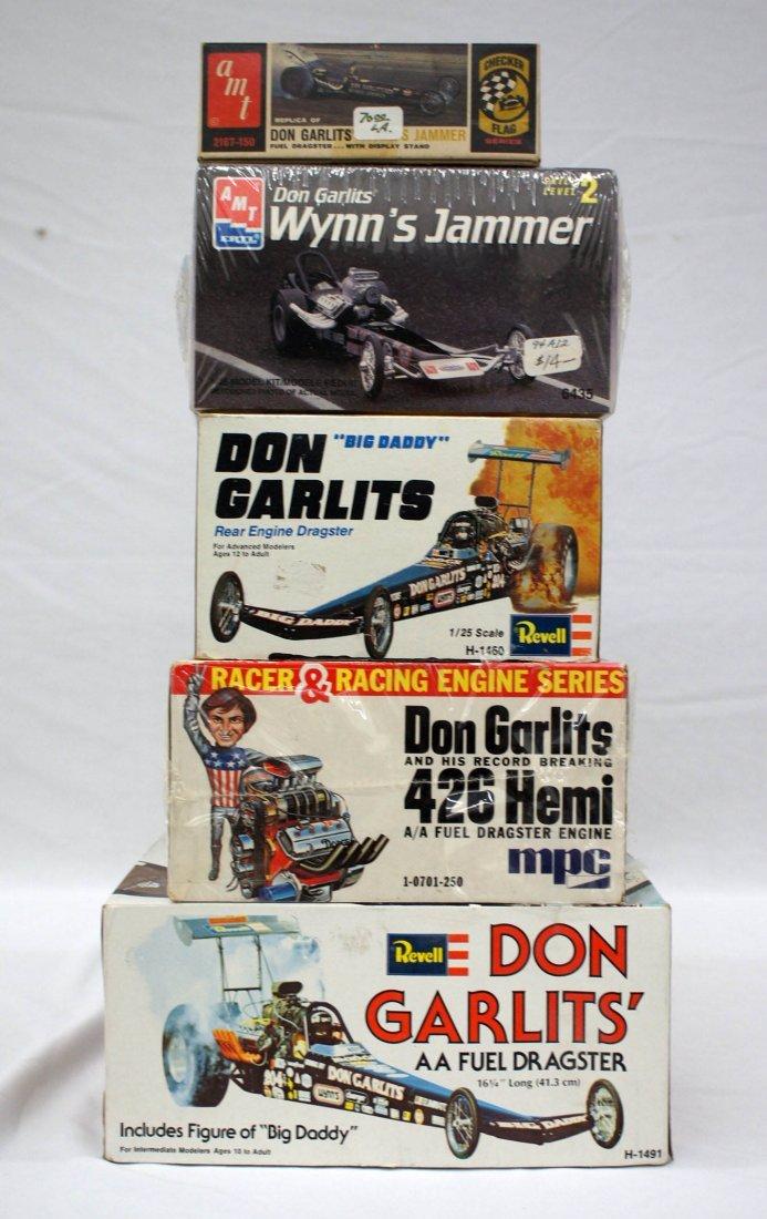 Group (5) Don Garlit's Drag Racer Model Kits MIB. All