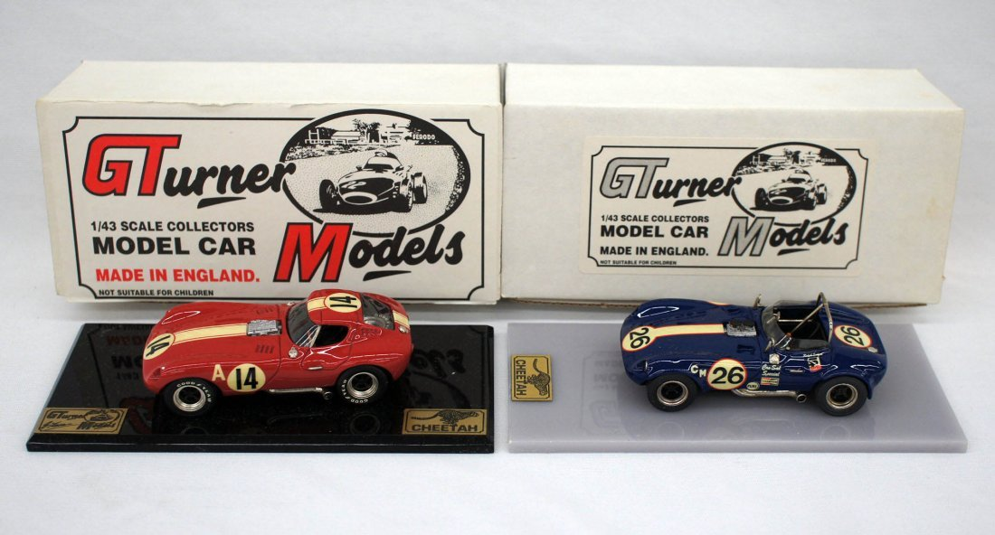 (2) George Turner England 1/43 Scale Cheetah Collectors