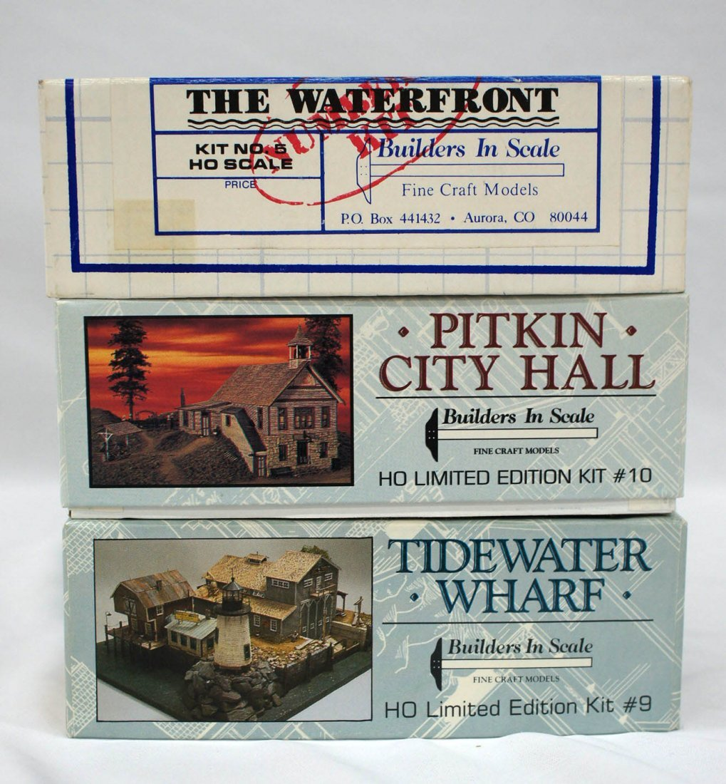 Group (3) HO Model Kits Railroad Buildings & Structures