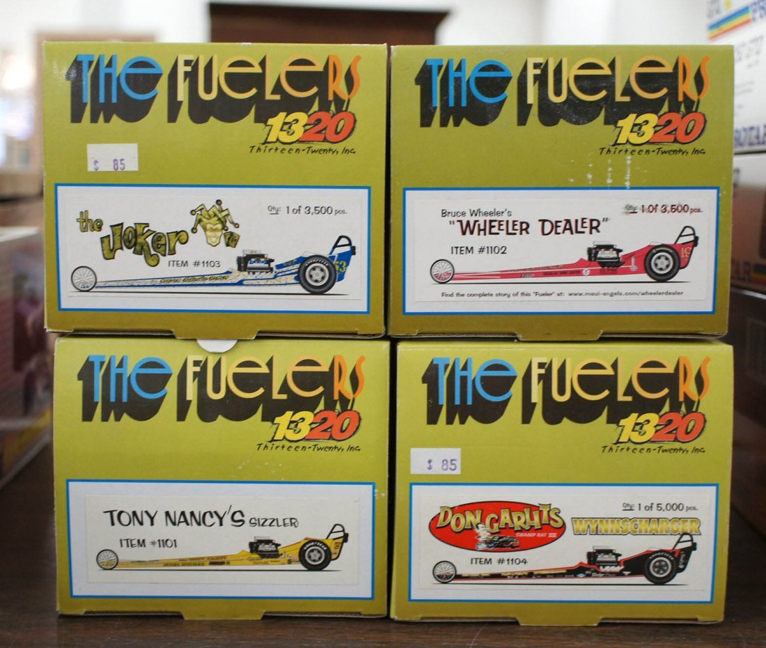Group (4) Drag Racing Diecast Collectors Model Cars
