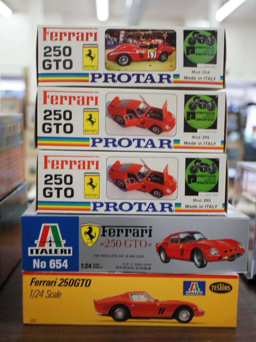 Group (5) Ferrari 1/24 Scale Model Kits. All made in