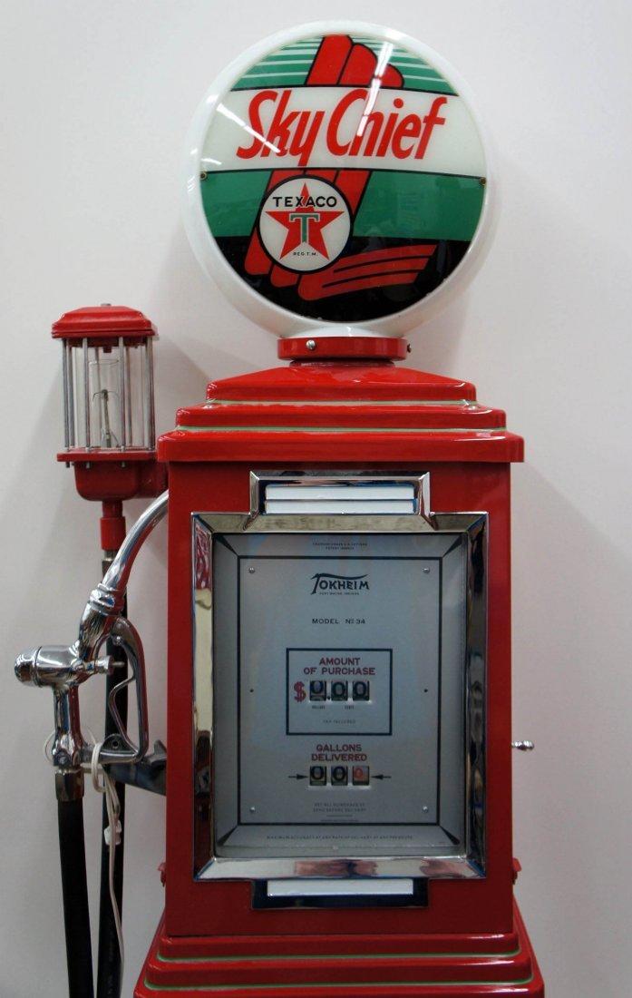 Texcao Tokheim Service Station Gas Pump 92''x21''x18''.