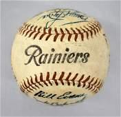 1954 Seattle Rainiers Pacific Coast League Team Signed