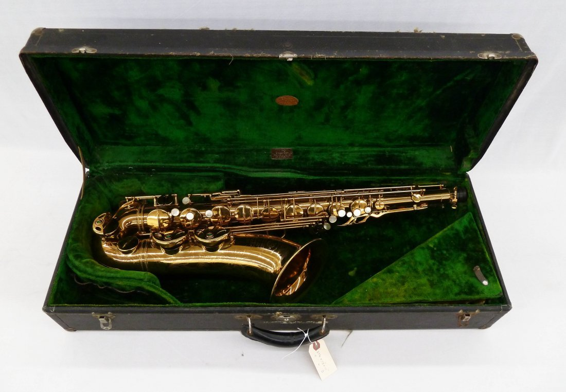 1950 Selmer France Super Action Brass Tenor Saxophone - 7
