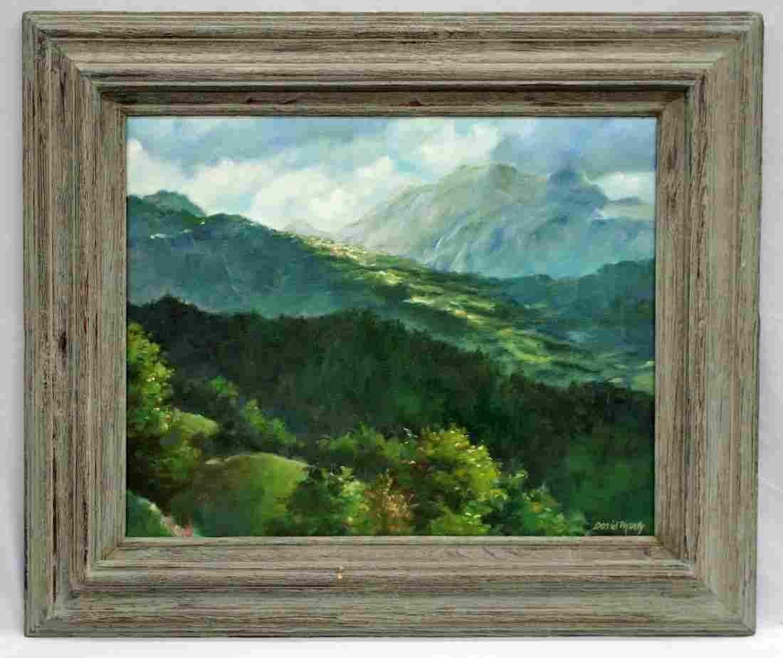 David Marty (b.1951 Washington) ''Distant Mountains''