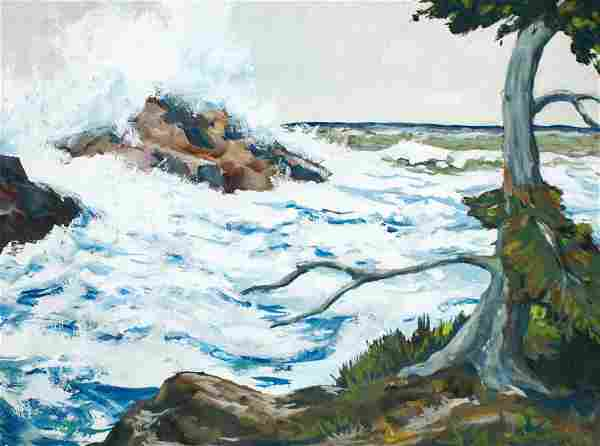 Robert Ormond Lee (b.1921 Washington) ''Oregon Coast''
