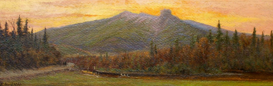 Edward Hill (1843-1923 American) Sunset Landscape Oil