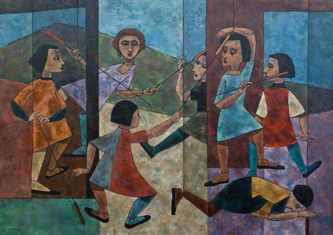 Demetrios Jameson (1919-1996 Oregon) ''Battle Dance