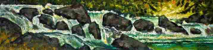 Paul Havas 19402012 Washington River Scene Oil on
