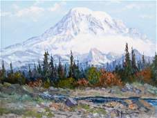 Fred Oldfield (b.1918 Washington) Mt. Rainier Landscape