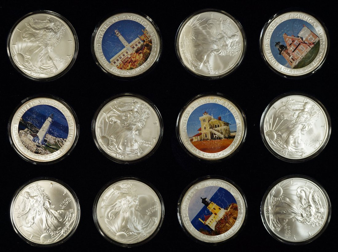 Lighthouses of America .999 one ounce U.S. silver