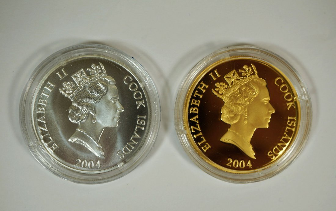 2004 Cook Islands Ronald Reagan gold and silver coin