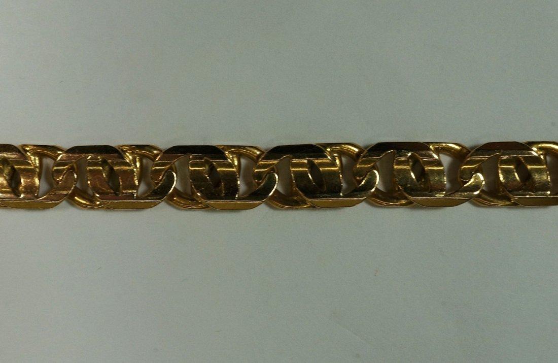 Mens heavy Italian gold bracelet. Stamped 14K, made in