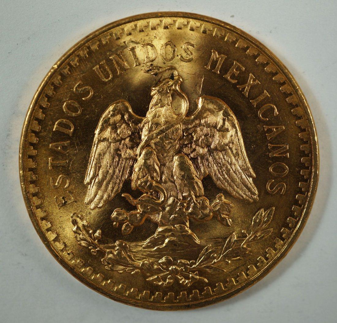 1947 Mexico 50 Pesos Gold Coin, 37.5g Oro Puro, Gold - 2