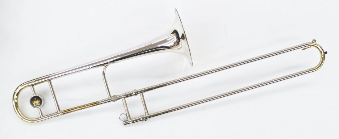 King 4B Silver Sonorous Trombone in Case. Sterling