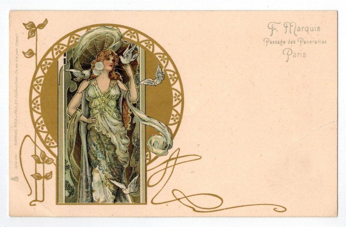 Art nouveau postcards for sale