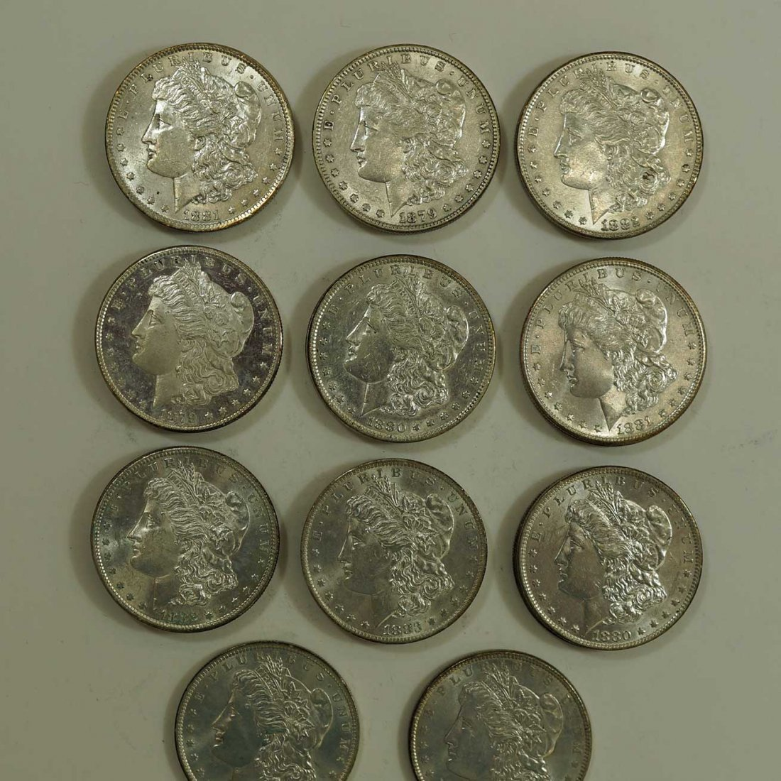 (20) Morgan US Silver Dollars, better condition