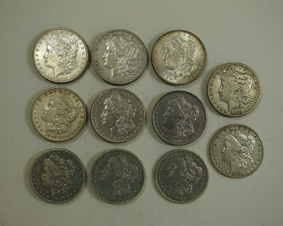 (20) Morgan US Silver Dollars, various dates