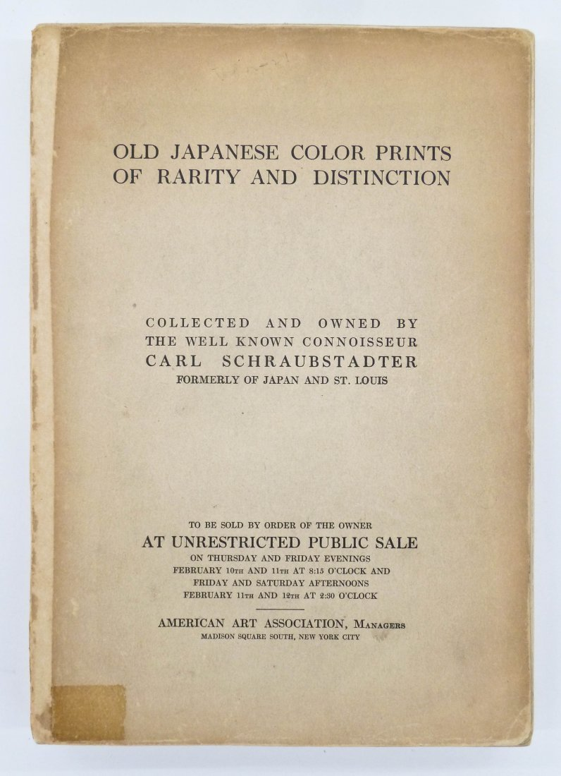 ''Old Japanese Color Prints of Rarity and Distinction: