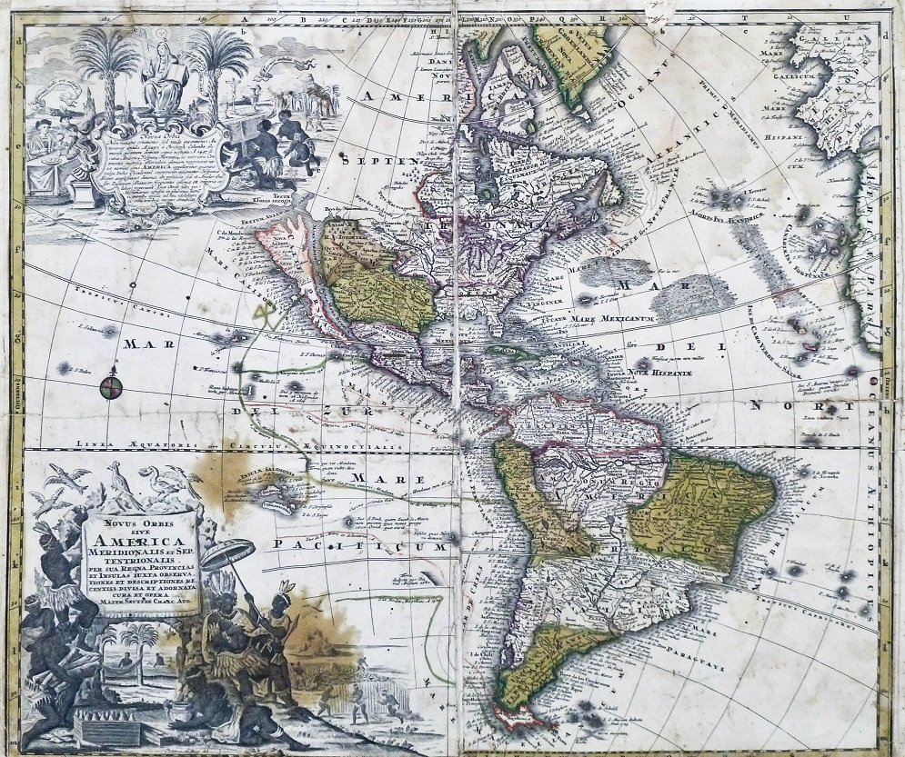Matthias Seutter (1678-1757) ''Novus Orbis Sive America