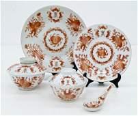 85pc Chinese Republic Pomegranate Porcelain Dish
