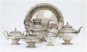 Towle ''Old Brocade'' Sterling Tea & Coffee Service.