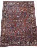 Semi Antique Persian Sarouk Room Size Rug 10'x15'.