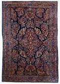Semi Antique Persian Sarouk Rug 5'x7'10''. Cobalt blue