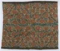 Antique Ottoman Silk  Silver Thread Floral Embroidery