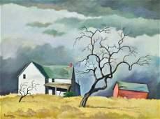 William Sanderson (1905-1990 American) ''Red Barn and