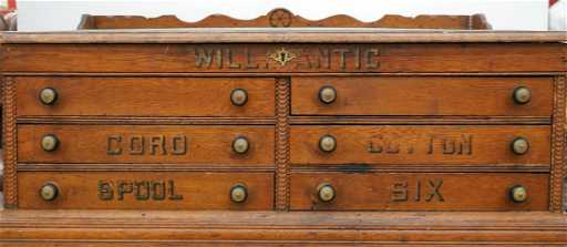 - Antique Willimantic Six Drawer Spool Cabinet, Oak Spool