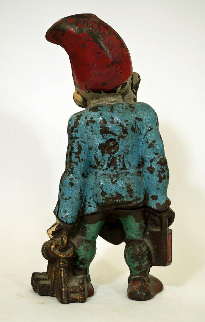 Antique Cast Iron Gnome Elf Doorstop. 10 x 5.5 Original - 2