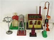 Group Vintage Toy Train Accessories