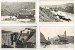 Group of (8) Panama Canal Construction real photo