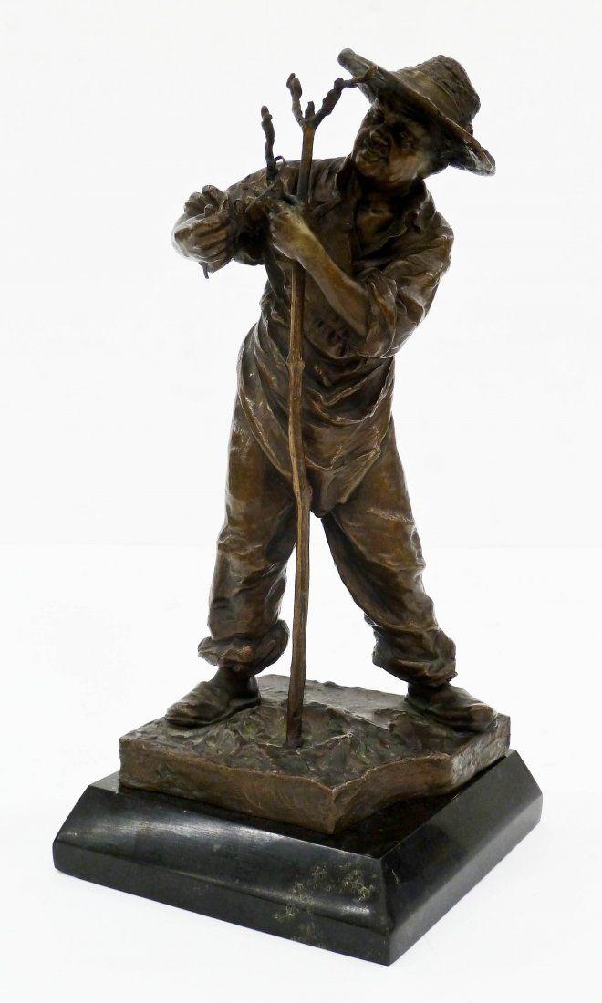Carl Kauba (1865-1922 Austrian) Gardener Bronze
