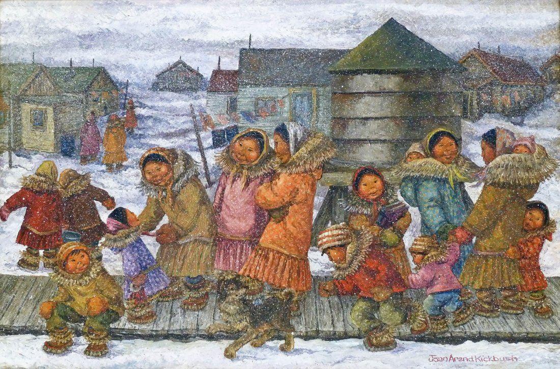 Joan Arend Kickbush (1926-2006 Alaska) Untitled Eskimo
