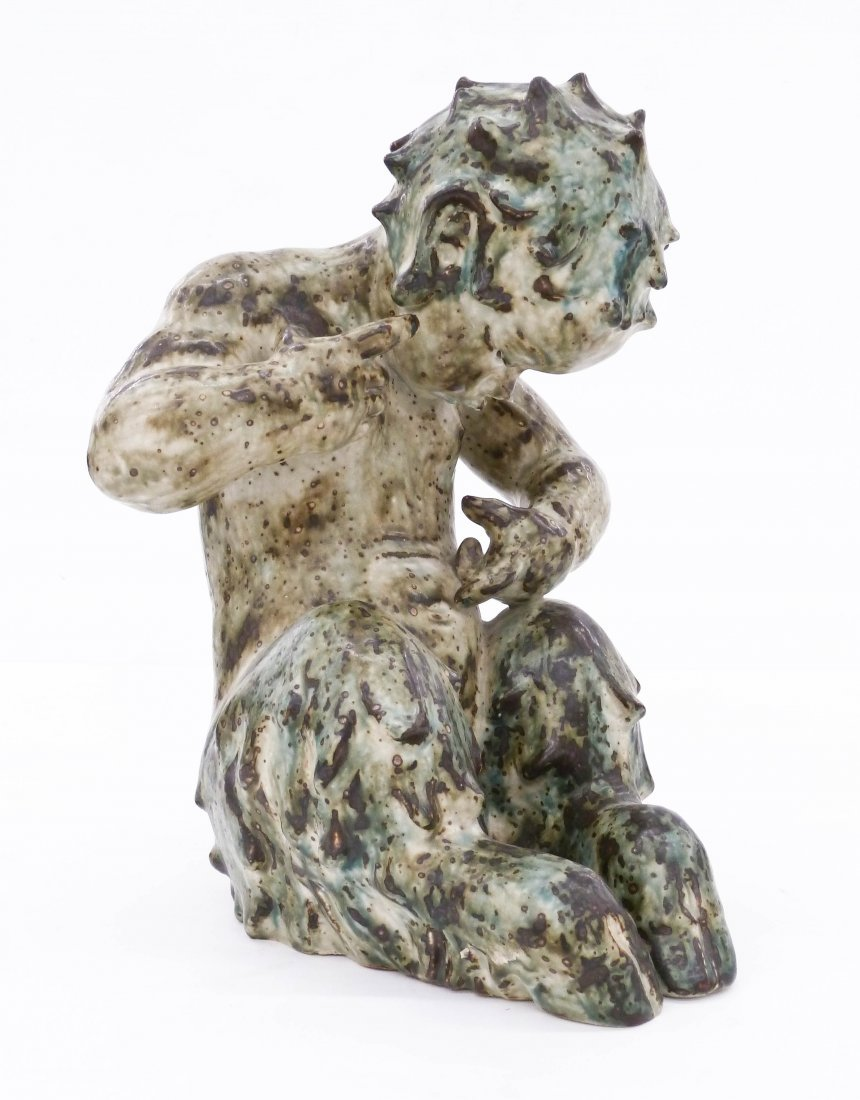 Knud Kyhn for Royal Copenhagen Baby Satyr Stoneware Fig