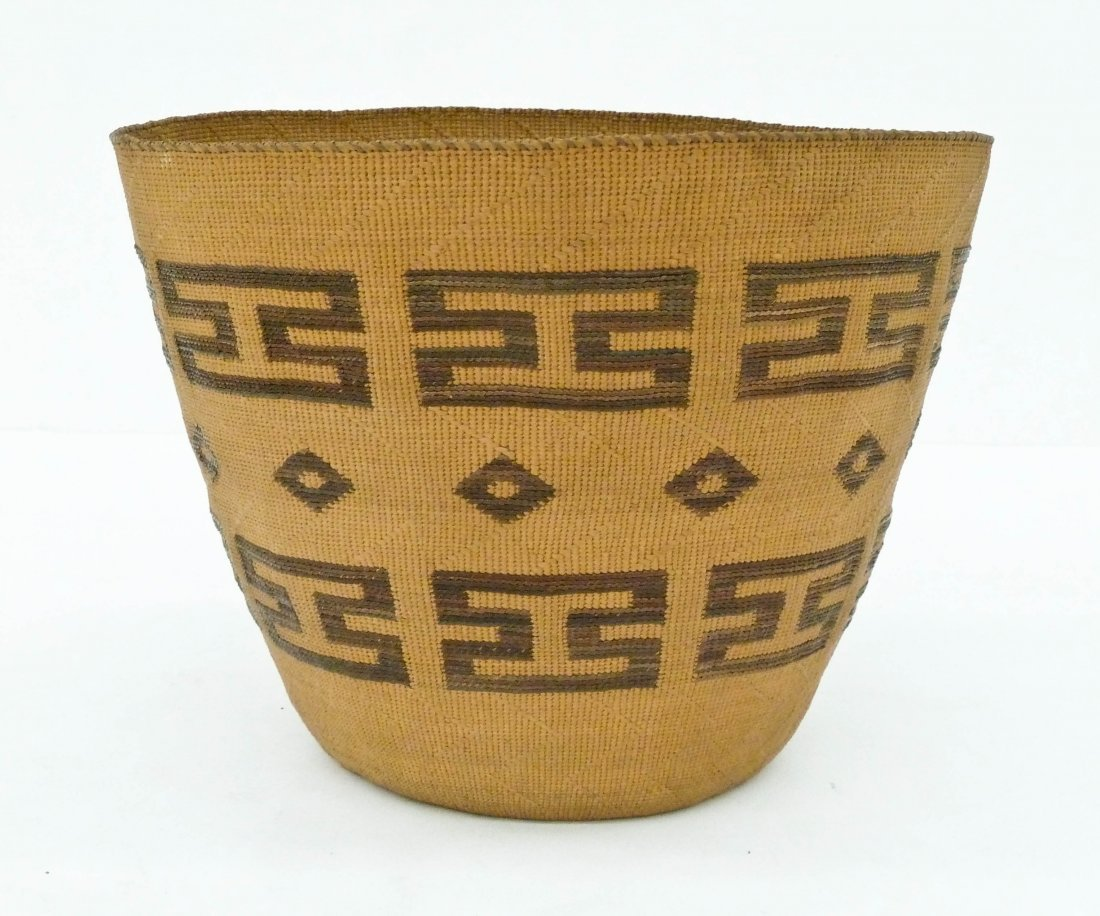 Antique Tlingit Large Indian Basket 8''x10''. An