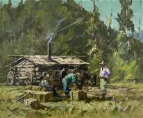 Eustace Ziegler (1881-1969 Alaskan) ''Back in Camp''