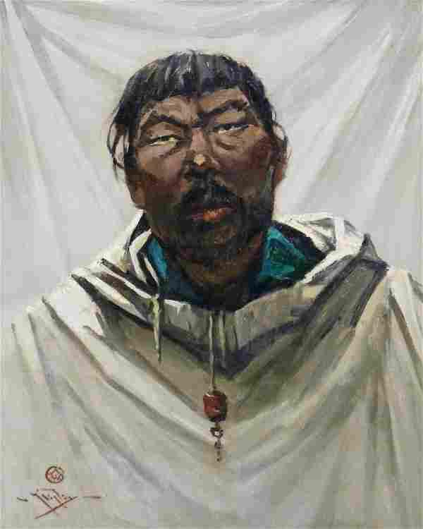 Eustace Ziegler (1881-1969 Alaskan) ''Kobuk Native''