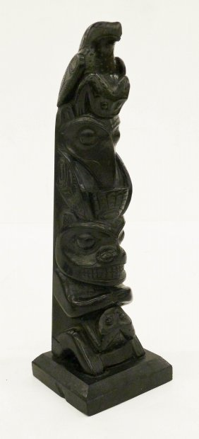 Robert Davidson (b.1946 Haida) Haida Argillite Totem